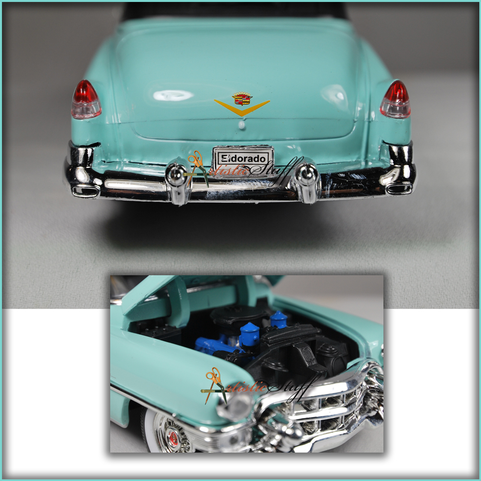 Welly 1953 cadillac eldorado soft top teal 1 24 scale for Does ebay motors ship cars