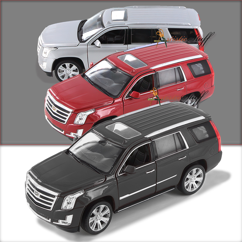 FOUR Welly 2017 Cadillac Escalade SUV 1:24 Scale Diecast