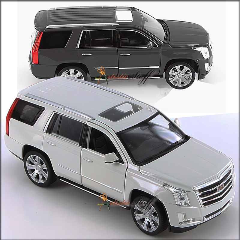 TWO Welly 2017 Cadillac Escalade SUV 1:24 Scale Diecast